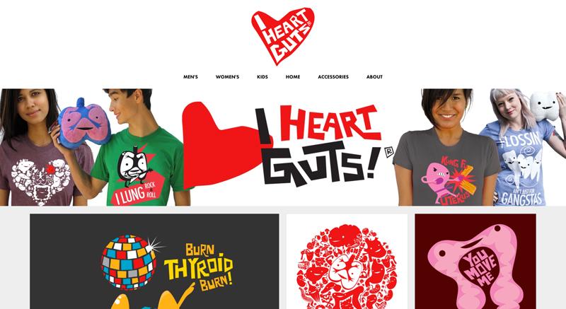 I Heart Guts Artist Shop