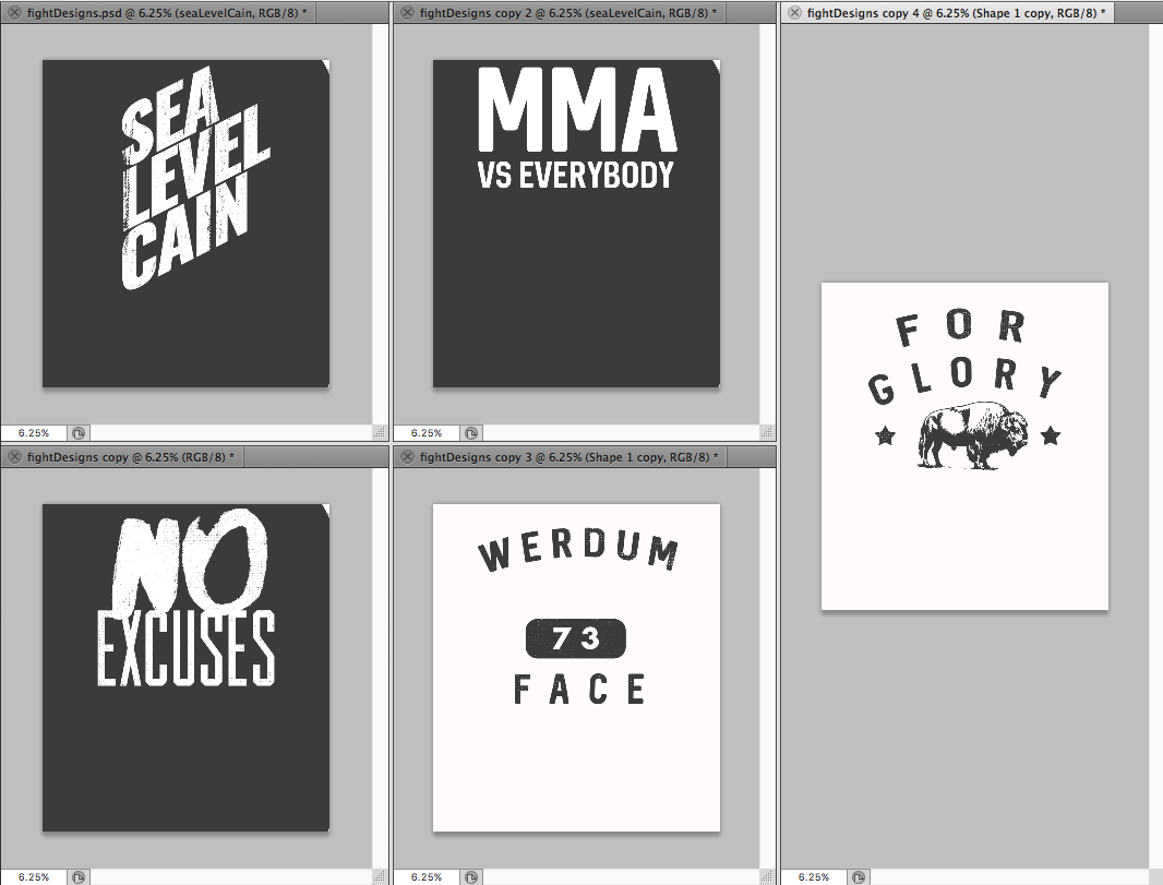 Twenty minutes later and here are the first designs.