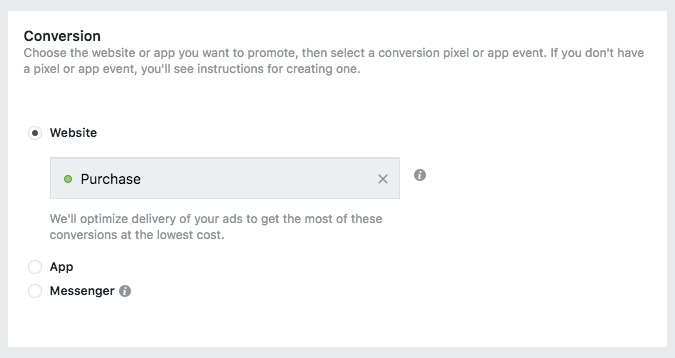Facebook conversion ad Pixel