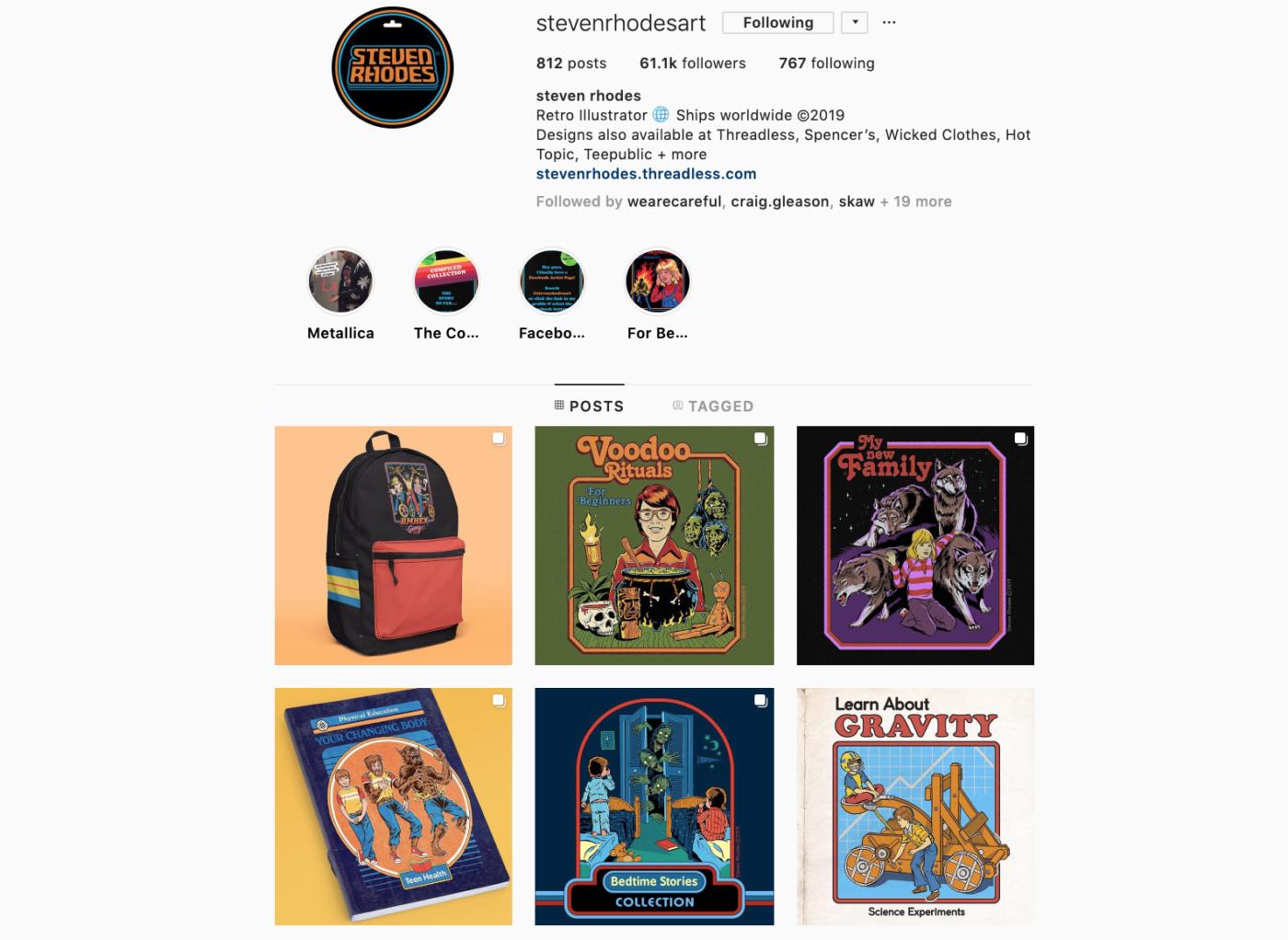 Steven Rhodes' Instagram