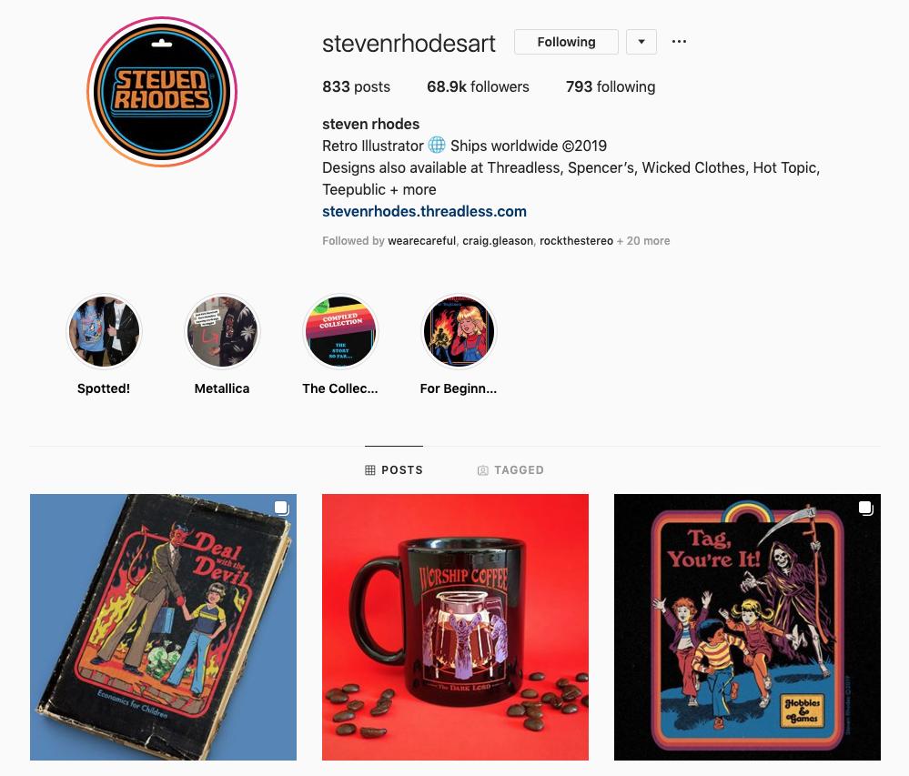 Steven Rhodes' Instagram Profile