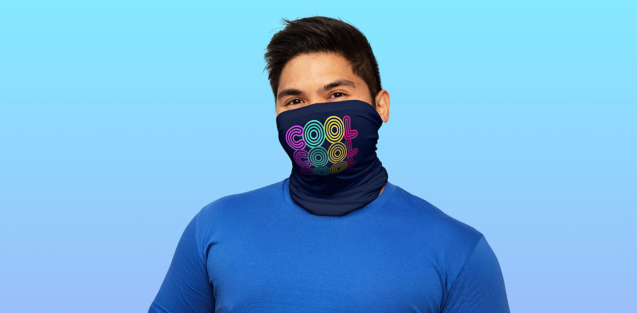 """Cool, Cool, Cool"" Performance Single-Layer Neck Gaiter by makart"