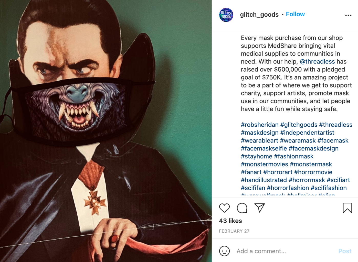 Glitch Goods by Rob Sheridan Instagram Post