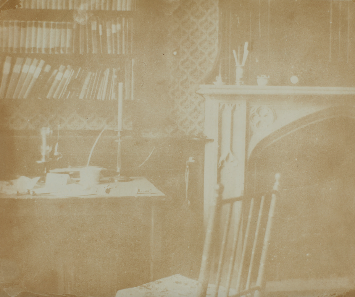 """William Henry Fox Talbot's """"Yellow Room at Lacock Abbey,"""" circa 1840"""