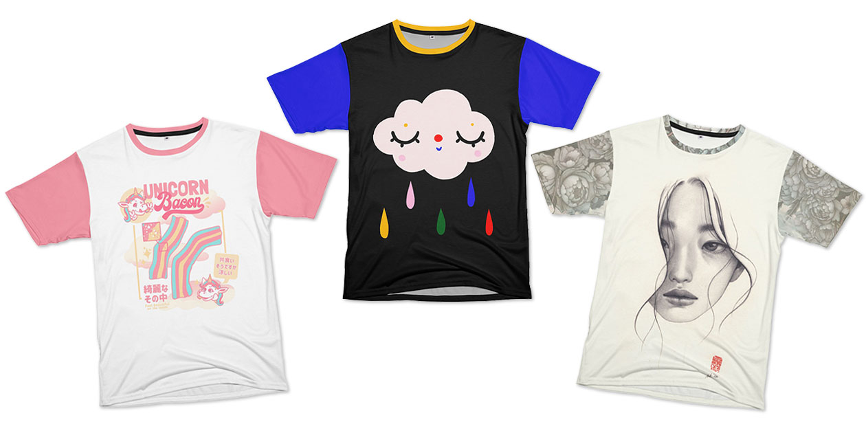 """""""Unicorn Bacon"""" by Tobe Fonseca, """"Cute clouds with raindrops"""" by Gabi Toma, and """"An Ordinary Day"""" by Stella Im Hultberg"""